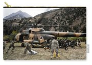 Afghan National Army Soldiers Unload Carry-all Pouch
