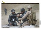 Afghan Police Students Assemble A Rpg-7 Carry-all Pouch
