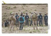 Afghan Police Students Listen To U.s Carry-all Pouch