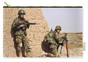 Afghan Soldiers Conduct A Dismounted Carry-all Pouch by Stocktrek Images