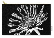 African Daisy In Black And White Carry-all Pouch
