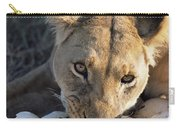African Lion Panthera Leo Raiding Carry-all Pouch
