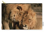African Lion Panthera Leo Two Males, Mt Carry-all Pouch