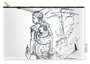 African Rural Woman Carry-all Pouch