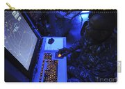 Air-traffic Controller Tracks Incoming Carry-all Pouch