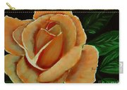 Airbrushed Coral Rose Carry-all Pouch