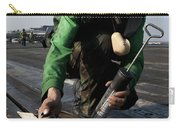 Airman Greases The Catapult Shuttle Carry-all Pouch