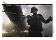 Airman Holds Up The Safety Shot Line Carry-all Pouch by Stocktrek Images