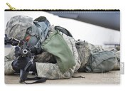Airman Provides Security At Whiteman Carry-all Pouch by Stocktrek Images