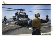 Airman Signals To An Mh-60s Sea Hawk Carry-all Pouch