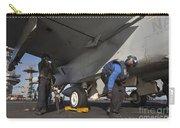 Airmen Chain Down An Fa-18e Super Carry-all Pouch