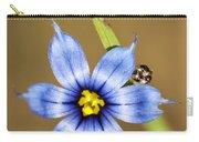 Alabama Blue-eyed Grass Wildflower - Sisyrinchium Angustifolium Carry-all Pouch
