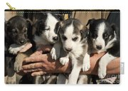 Alaskan Huskey Puppies Carry-all Pouch