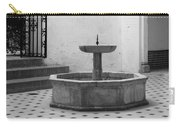 Alcazar Courtyard In Black And White Carry-all Pouch