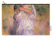 Algerian Woman And Child Carry-all Pouch by Pierre Auguste Renoir