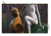 Alien And Dog Carry-all Pouch by Daniel Eskridge