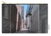 Alley With Guy Reading Layered Carry-all Pouch by Anita Burgermeister