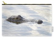 Alligator With Sky Reflections - A Closer View Carry-all Pouch