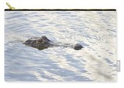 Alligator With Sky Reflections Carry-all Pouch