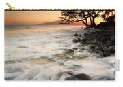 Alone With The Sea Carry-all Pouch by Mike  Dawson
