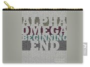 Alpha Omega Beginning End Carry-all Pouch