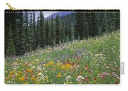 Alpine Wildflower Meadow, Mount Carry-all Pouch