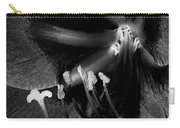 Amaryllis Flower In Black And White Carry-all Pouch