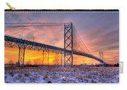 Ambassador Bridge Sunrise 1-16-2012  Detroit Mi Carry-all Pouch