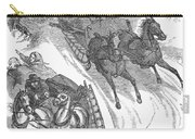 America: Sleighing, 1858 Carry-all Pouch
