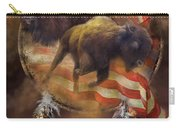 American Buffalo Carry-all Pouch by Carol Cavalaris