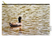 American Coot Floating By Carry-all Pouch