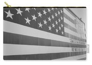 American Flag At Nathan's In Black And White Carry-all Pouch