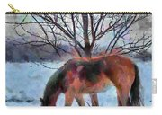 American Paint In Winter Carry-all Pouch by Jeff Kolker