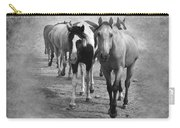 American Quarter Horse Herd In Black And White Carry-all Pouch