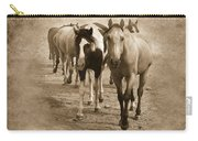 American Quarter Horse Herd In Sepia Carry-all Pouch by Betty LaRue