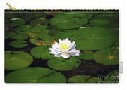 American White Waterlily Carry-all Pouch