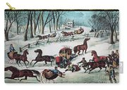 American Winter 1870 Carry-all Pouch by Photo Researchers