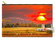 Amish Farm Sundown Carry-all Pouch by Randall Branham