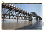 Amtrak Train Riding Atop The Benicia-martinez Train Bridge In California - 5d18829 Carry-all Pouch