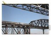 Amtrak Train Riding Atop The Benicia-martinez Train Bridge In California - 5d18835 Carry-all Pouch