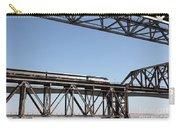 Amtrak Train Riding Atop The Benicia-martinez Train Bridge In California - 5d18837 Carry-all Pouch