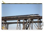 Amtrak Train Riding Atop The Benicia-martinez Train Bridge In California - 5d18839 Carry-all Pouch