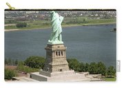 An Aerial View Of The Statue Of Liberty Carry-all Pouch