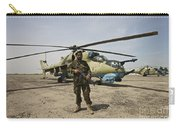An Afghan Army Soldier Guards A Couple Carry-all Pouch
