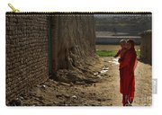 An Afghan Girl Carries Her Little Carry-all Pouch