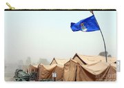 An Air Force Flag In Tent City Waves Carry-all Pouch