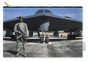An Airman Guards A B-2 Spirit Carry-all Pouch