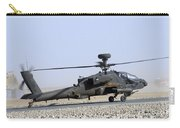 An Apache Helicopter Prepares Carry-all Pouch