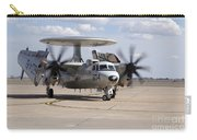 An E-2c Hawkeye On The Runway At Cannon Carry-all Pouch