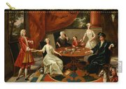 An Elegant Family Taking Tea  Carry-all Pouch by Gavin Hamilton
